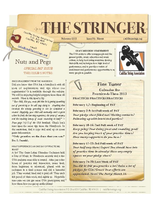 CSA Newsletter Special Feb 2013