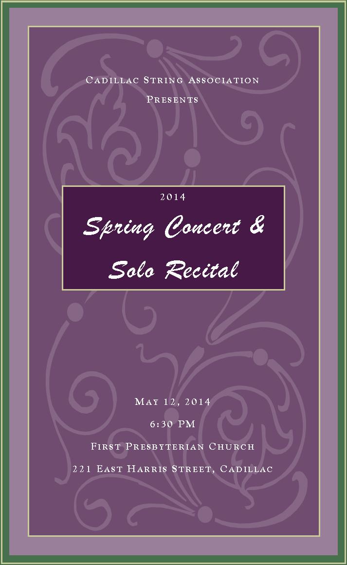 Spring Recital 2014